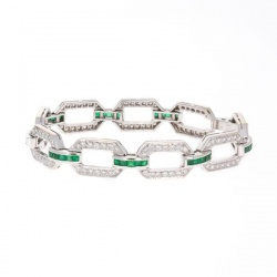 Emerald and Diamond Estate Bracelet